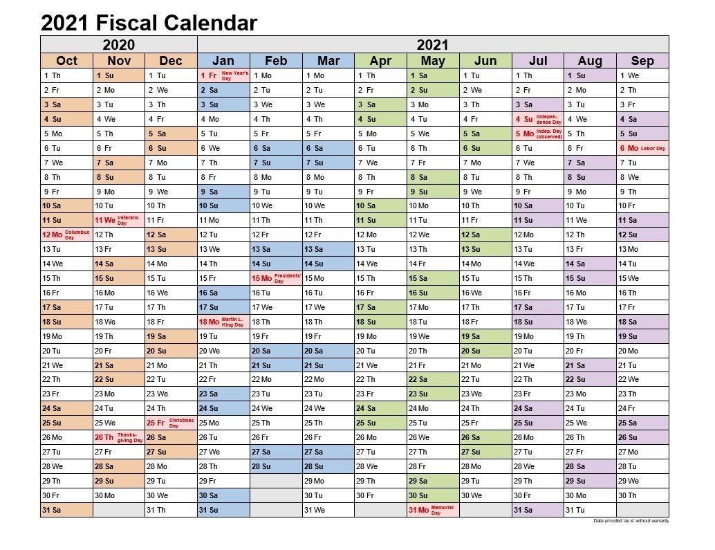 Catch 2021 4 4 5 Fiscal Period Basis