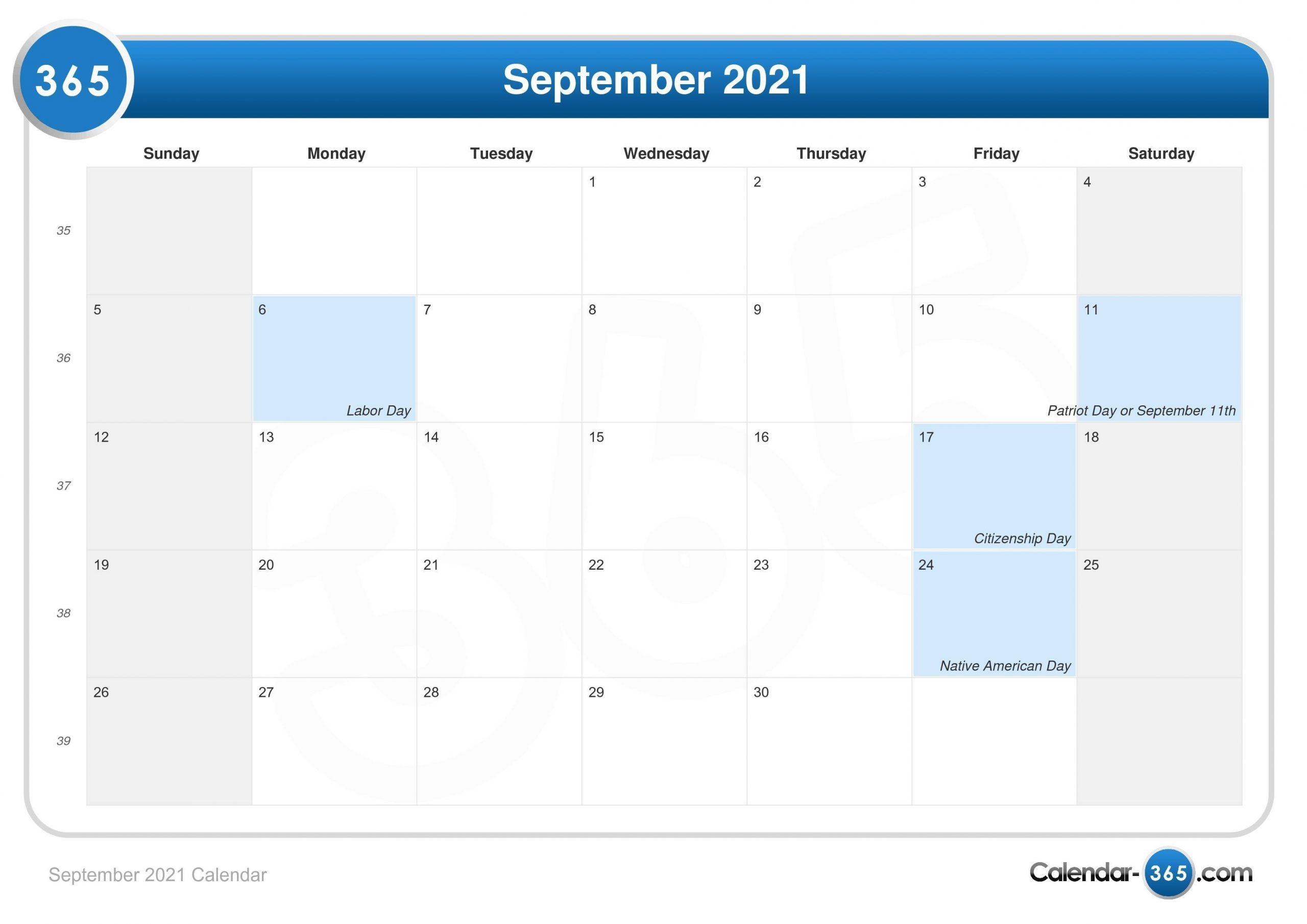 Catch 2021 Caender Sept