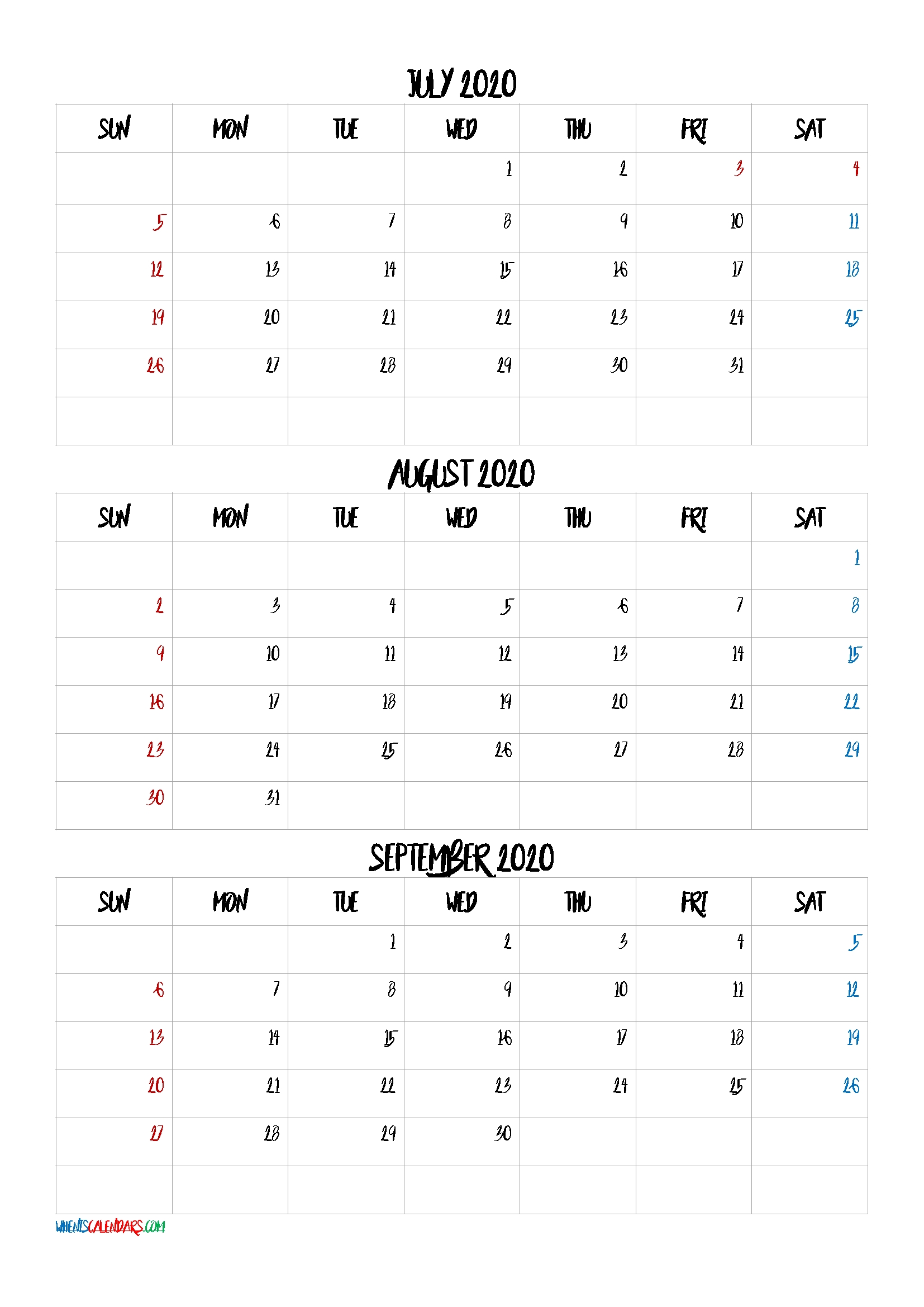 Catch 2021 Calendar August September