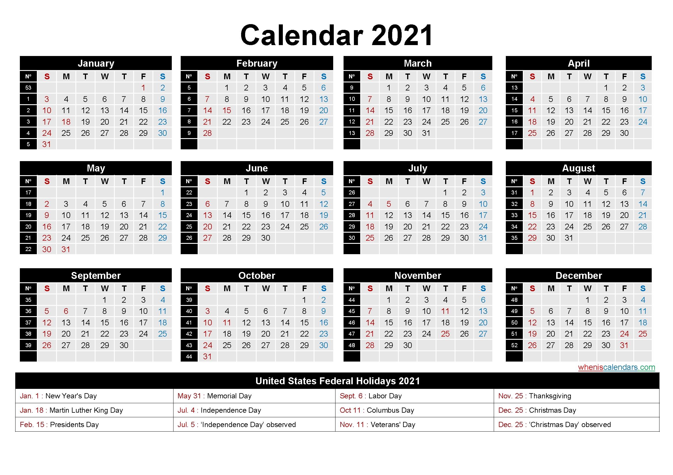 Catch 2021 Calendar By Week Number Excel