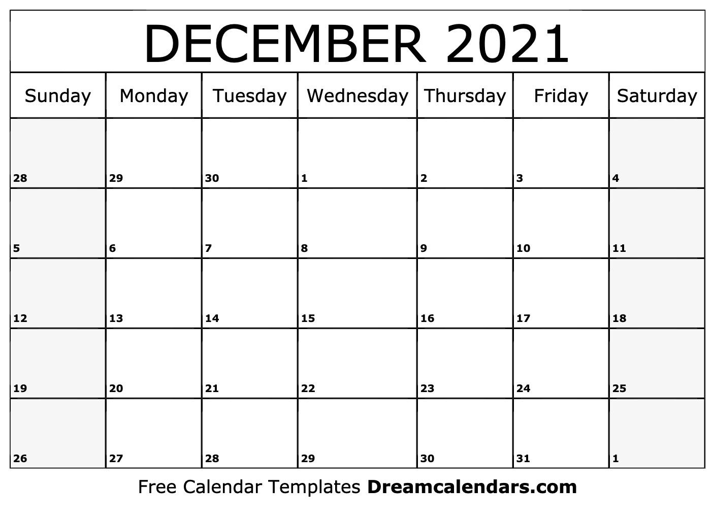 Catch 2021 Calendar Printable December Christmas