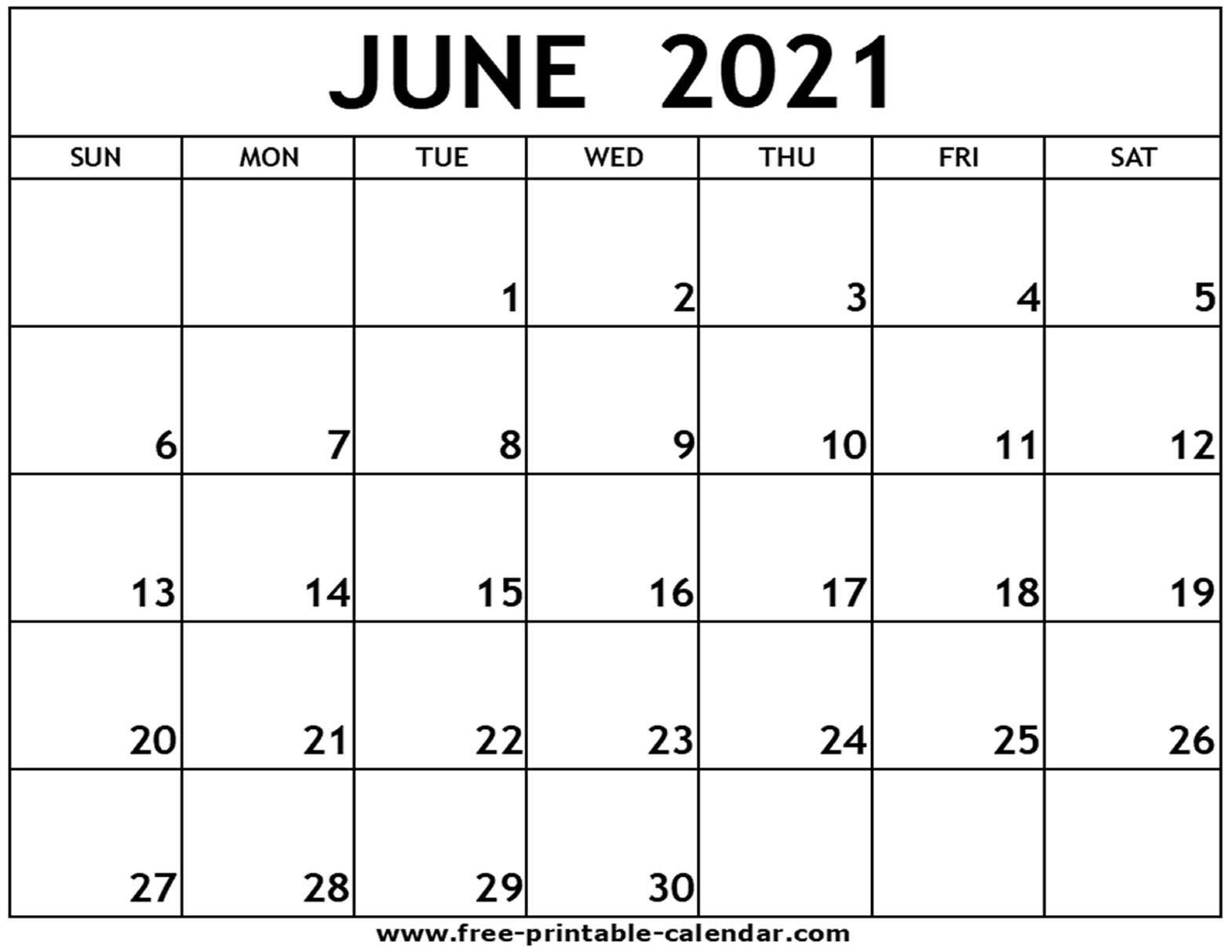 Catch 2021 June Calendars To Print Without Downloading