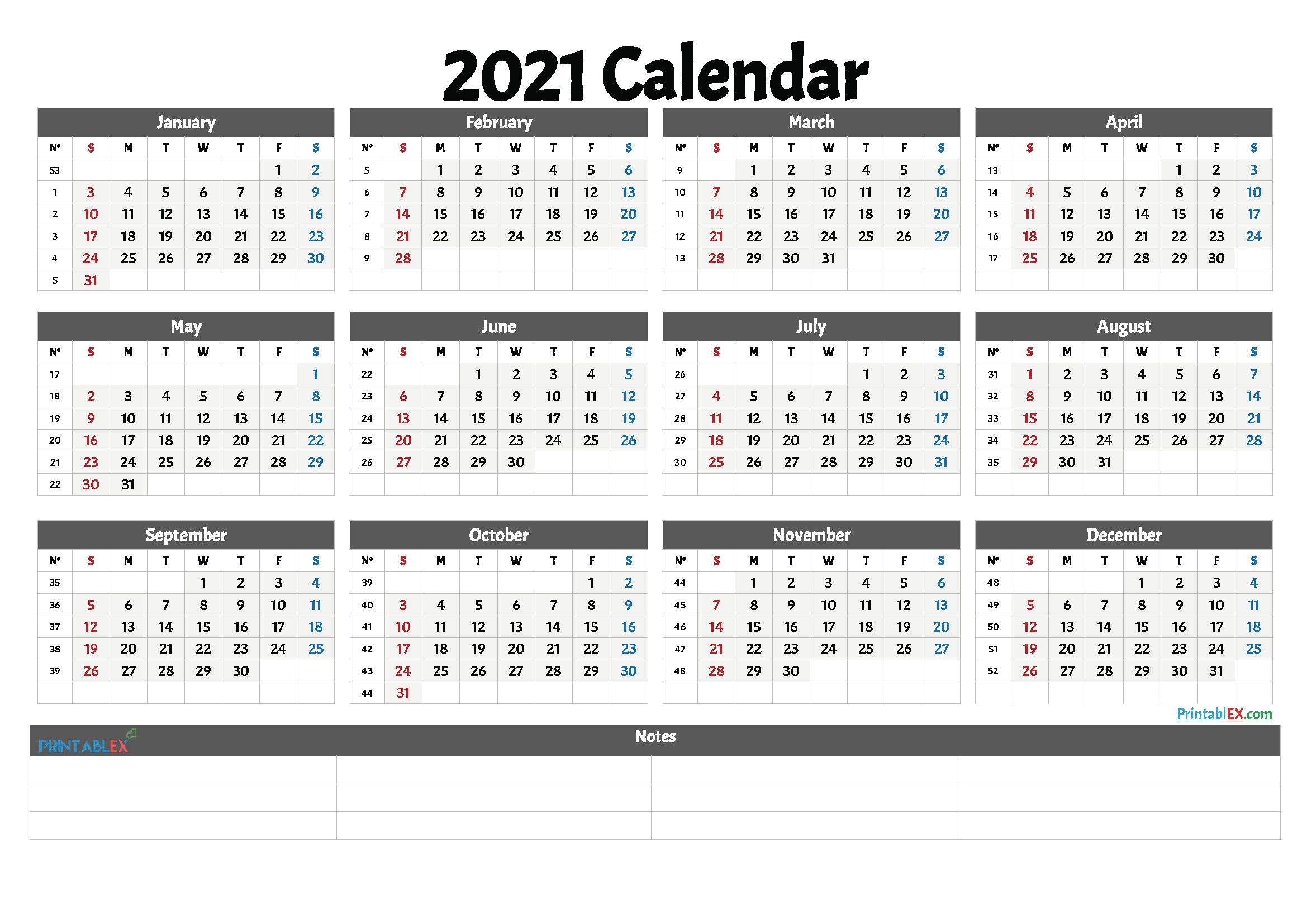 Catch 2021 Weekly Calendar