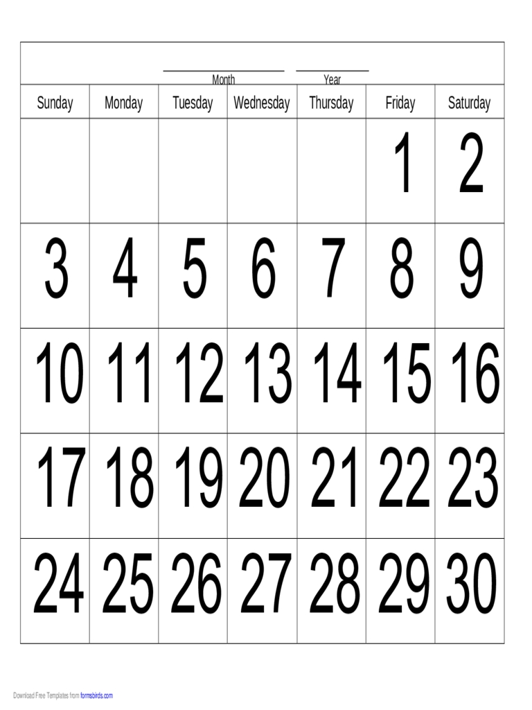 Catch 30 Day Calendar Online