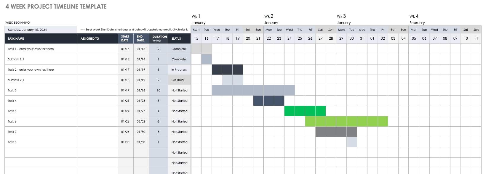 Catch 4 Week Planing Calendar