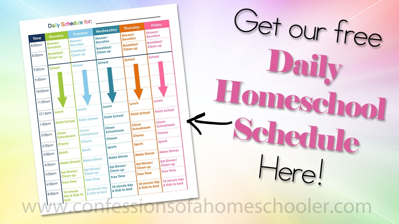 Catch 5 Day School Timetable