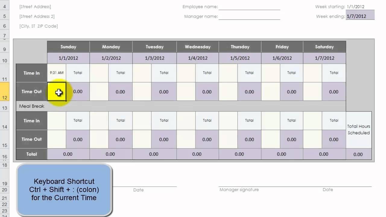 Catch 52Weak Calendar Excel
