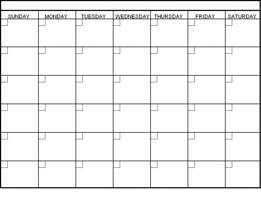 Catch 6 Week Blank Schedule Template