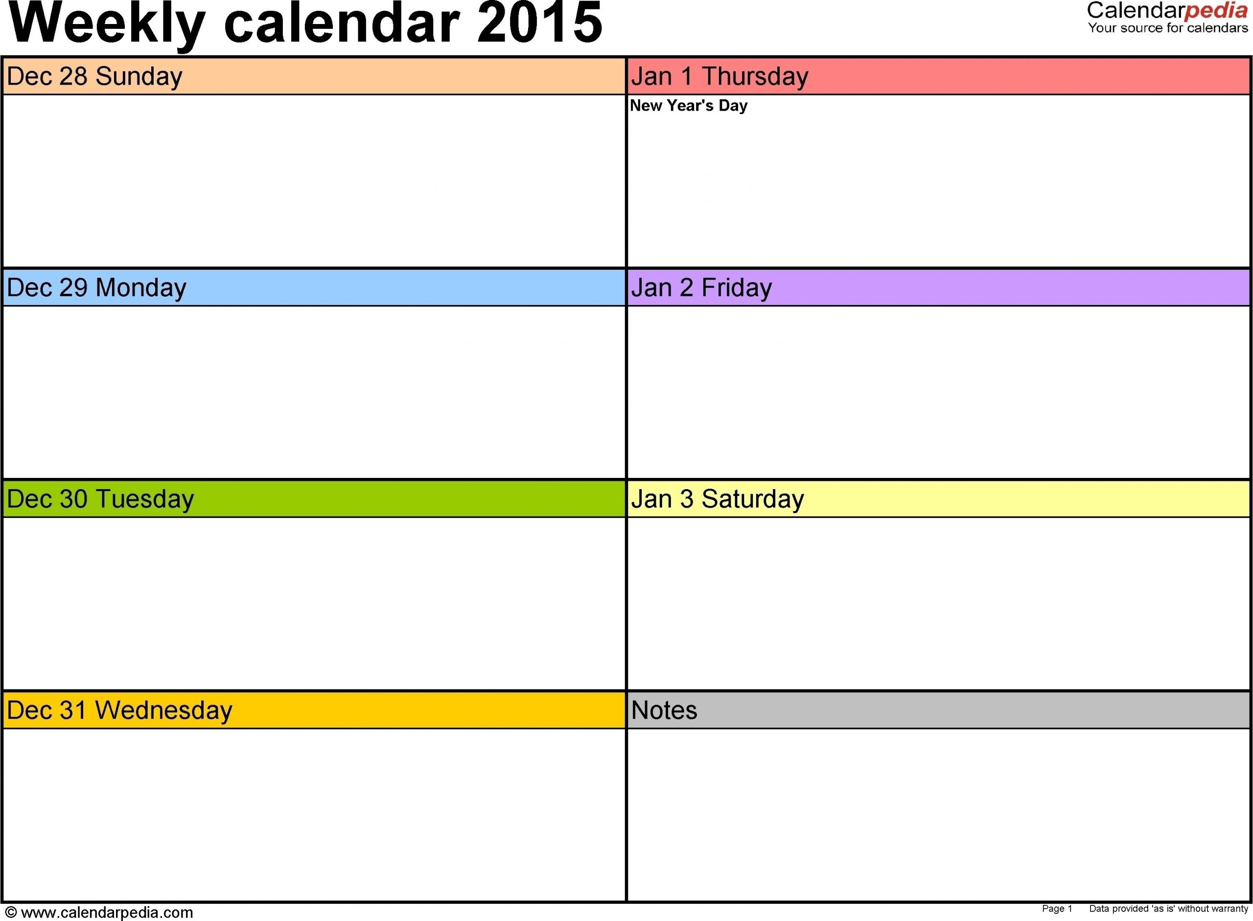 Catch 7 Day A Week Printable Fillable Calendar