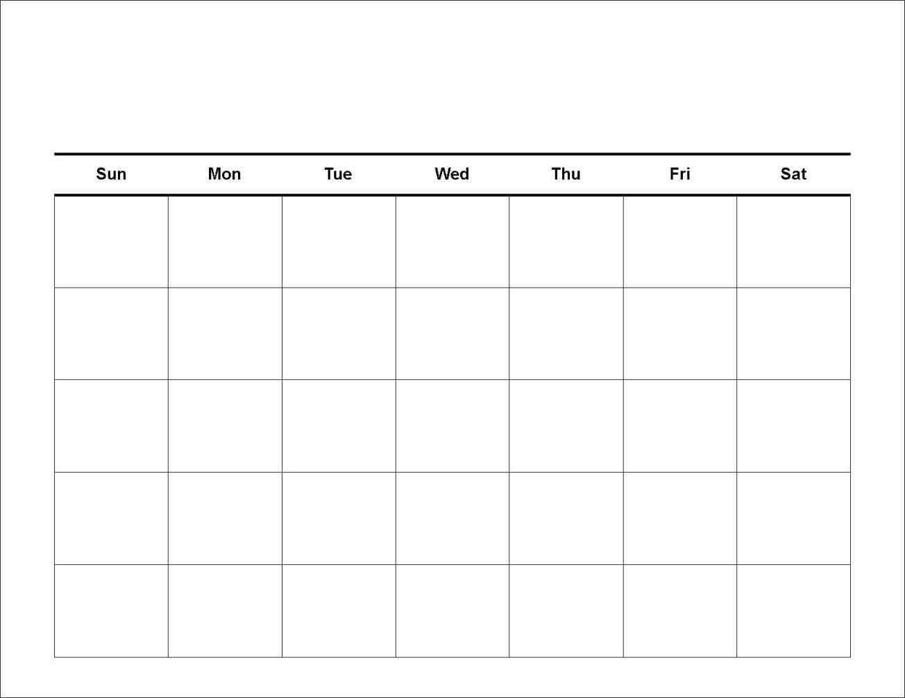 Catch 7 Day Blank Calendar Printable