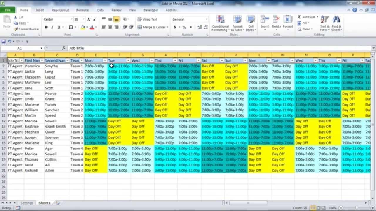 Catch A B C And D Shift Schedules