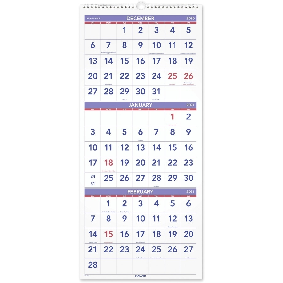 Catch A Month At A Glance December
