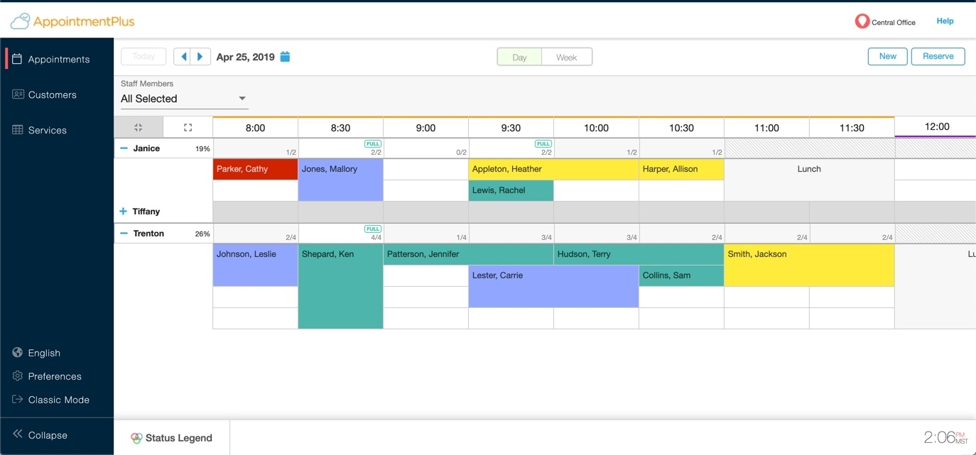 Catch Appointment Planner By Time Slots