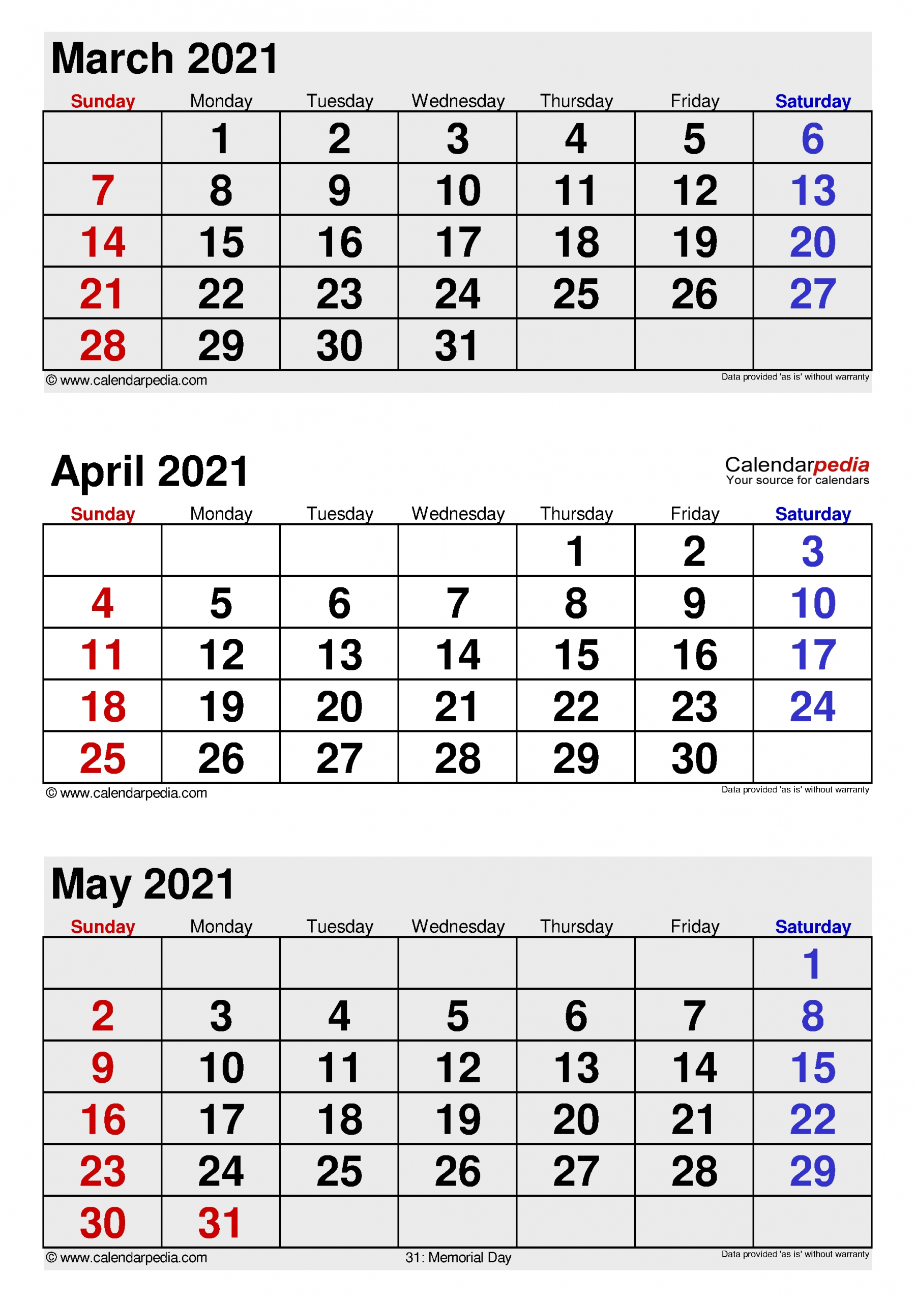Catch April May 2021