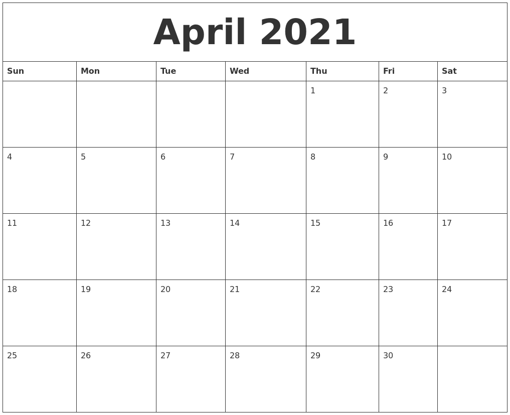 Catch April May Calendar 2021