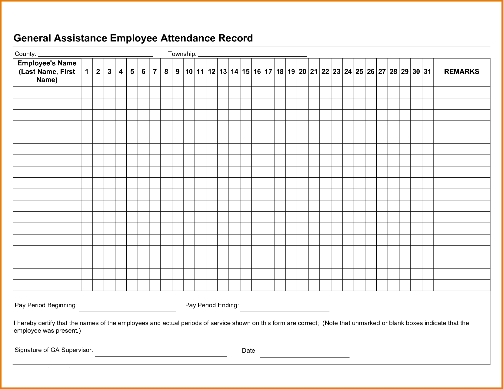 Catch Attendance Report Calendar Free