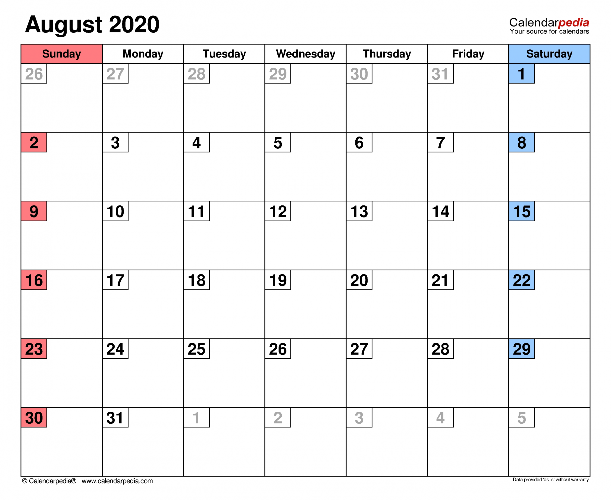 Catch August Calendar Type In