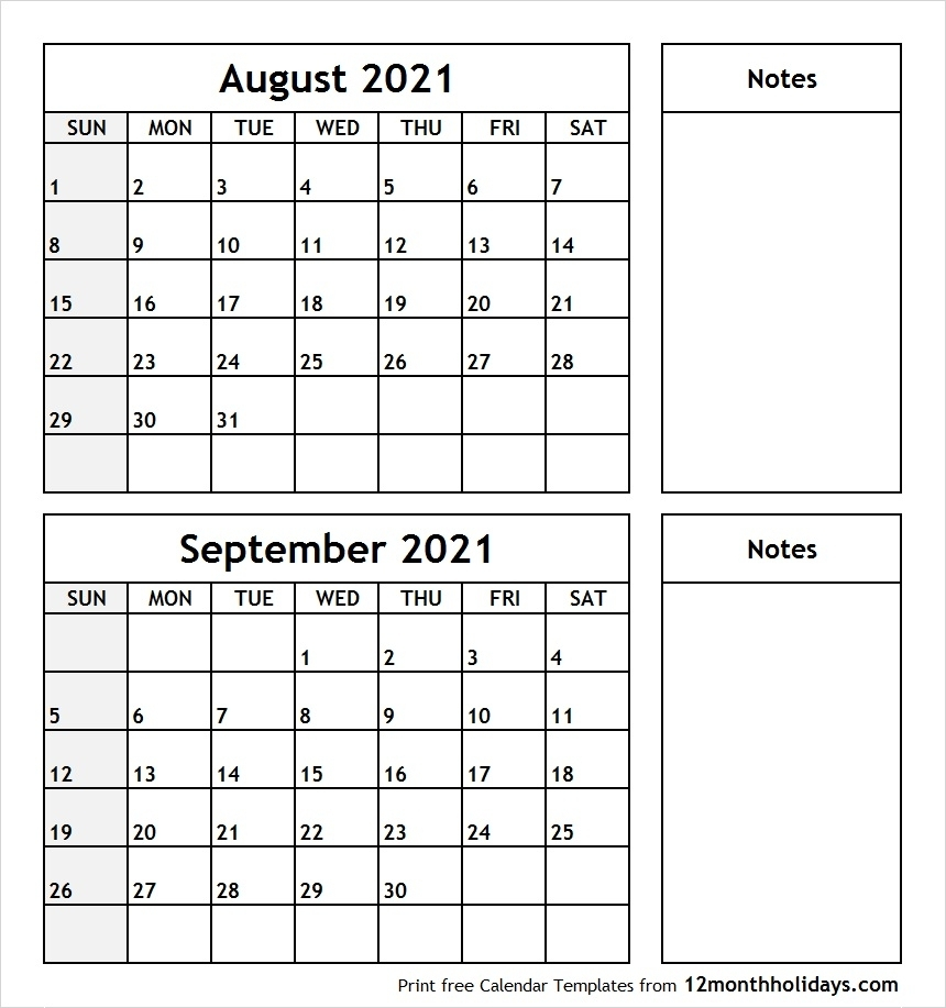 Catch August September Calendar 2021