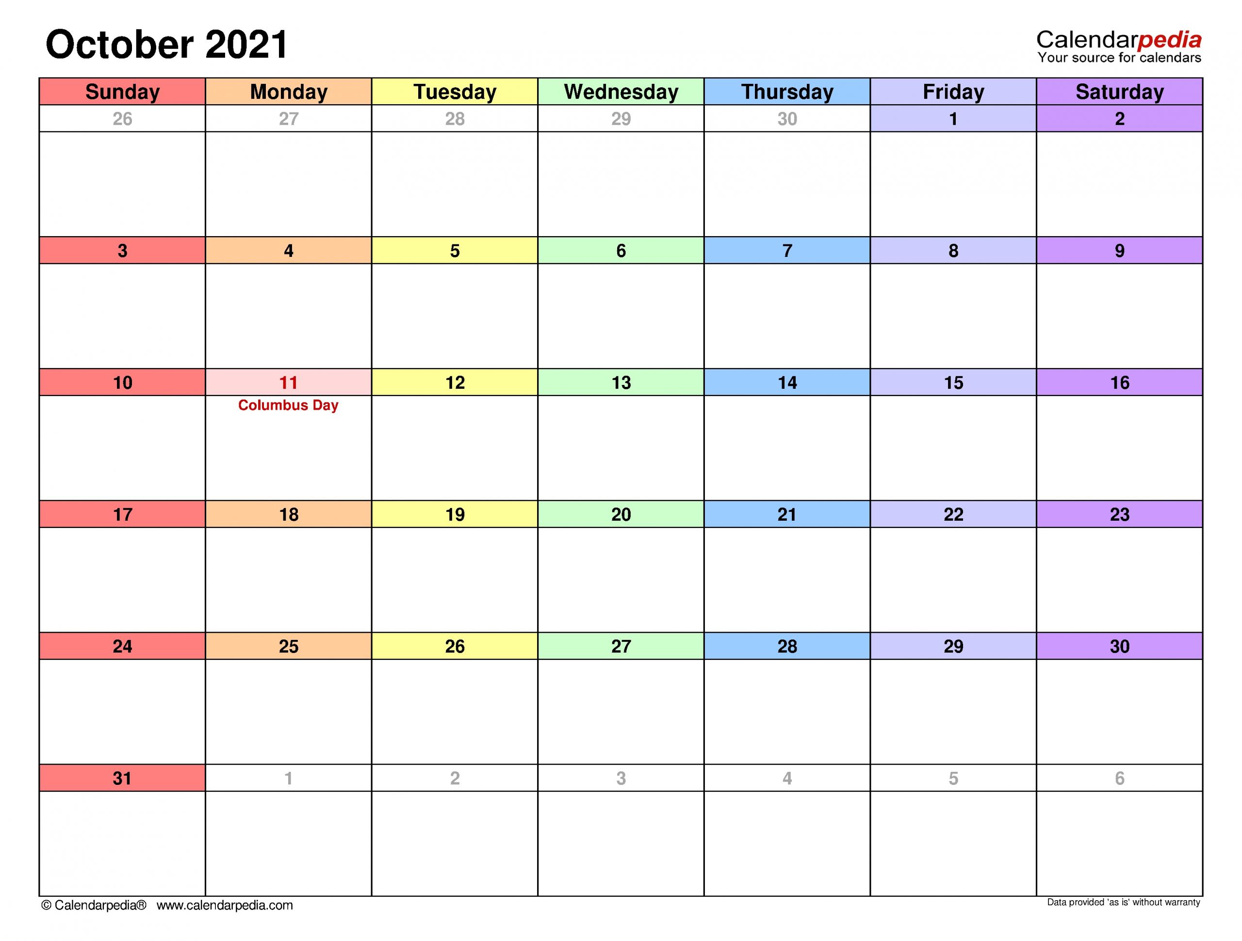 Catch August Through To October 2021 Editable Calendar