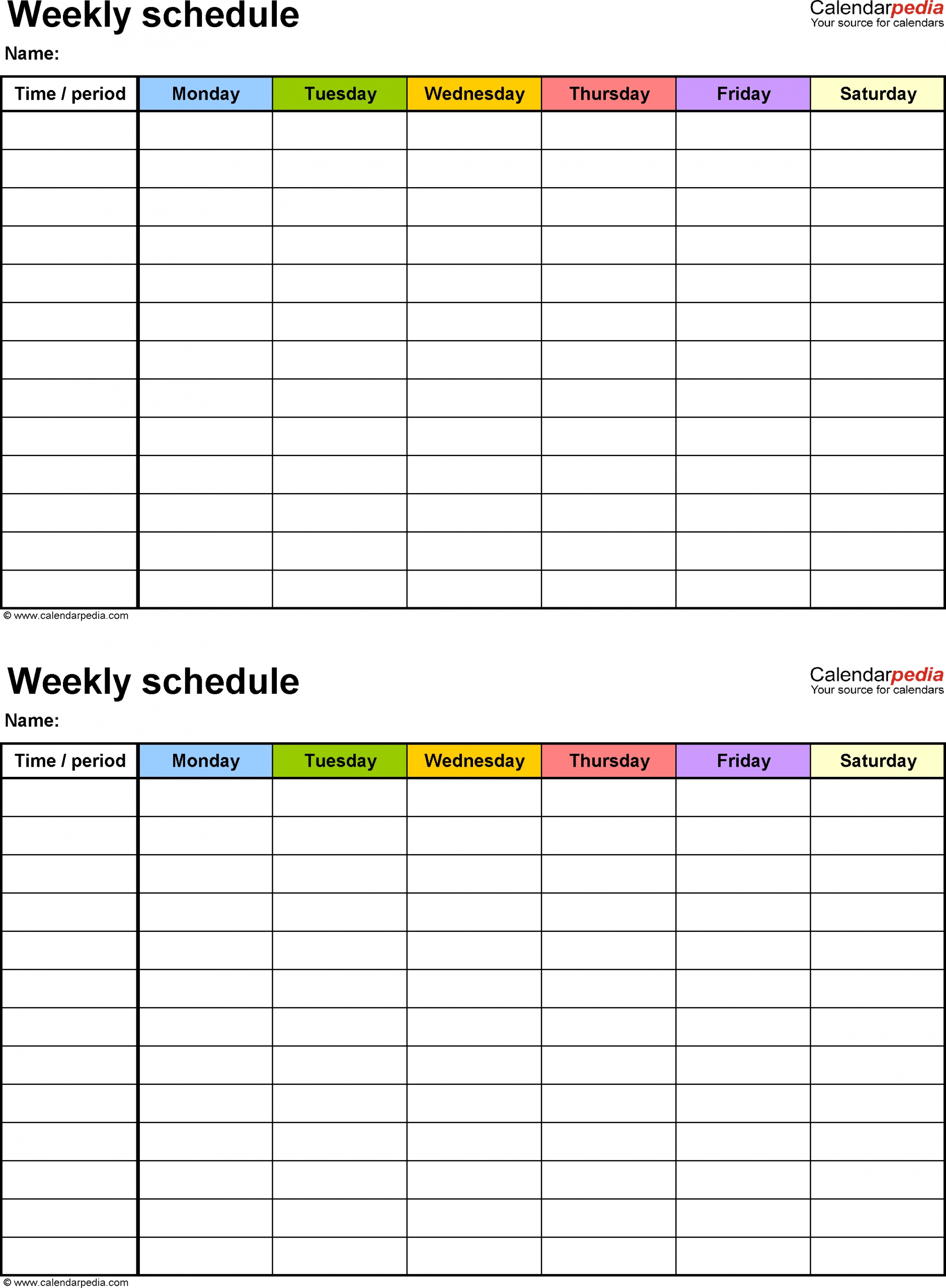 Catch Bi Weekly Calendars