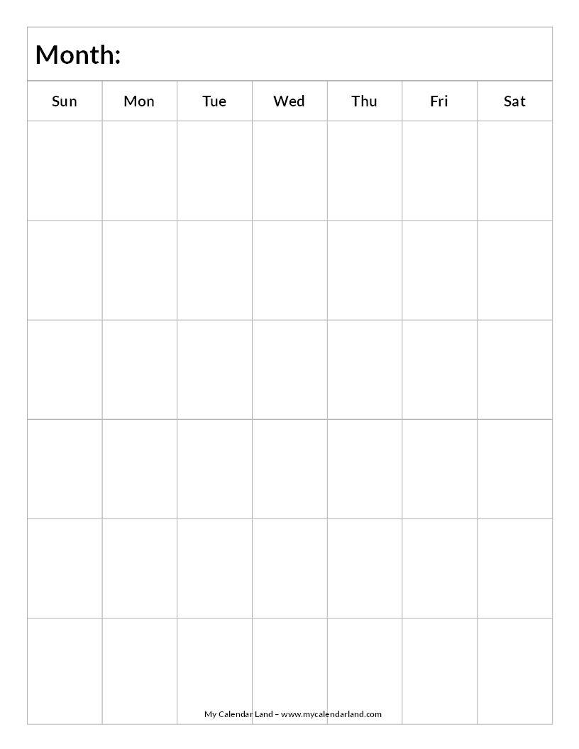 Catch Blank 6 Week Calendar