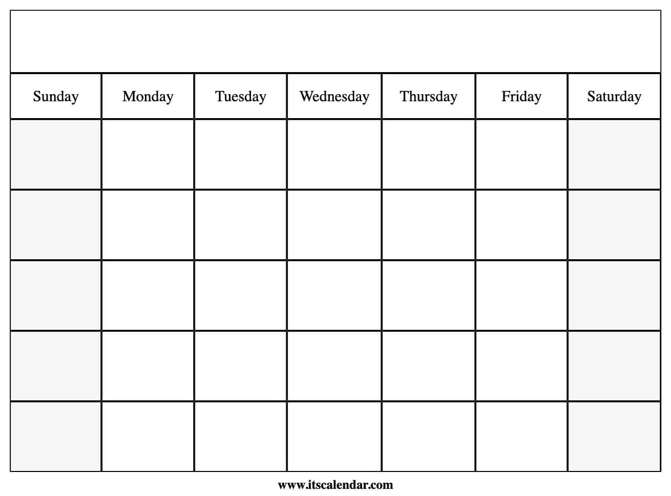 Catch Blank Calendar Printable