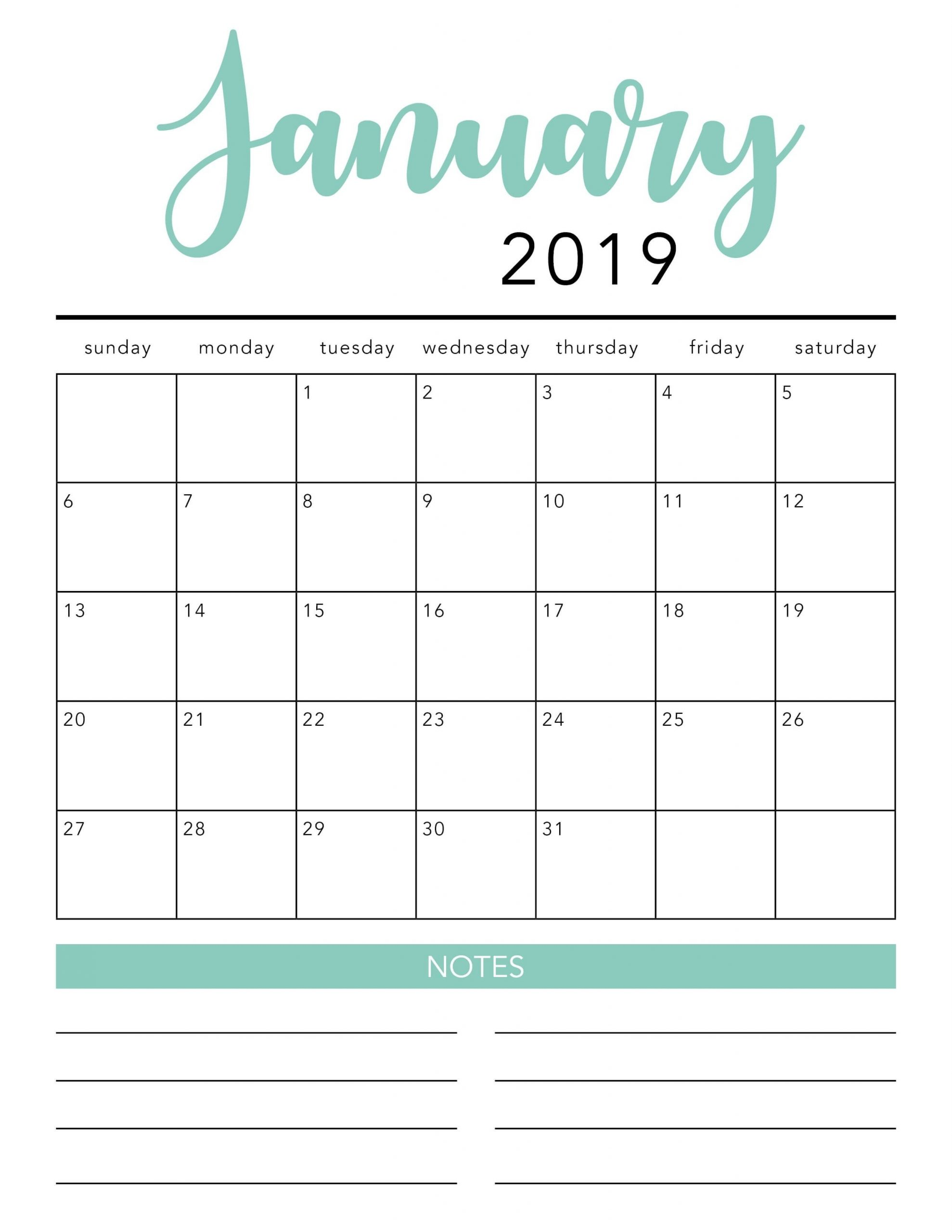 Catch Blank Calendar Template