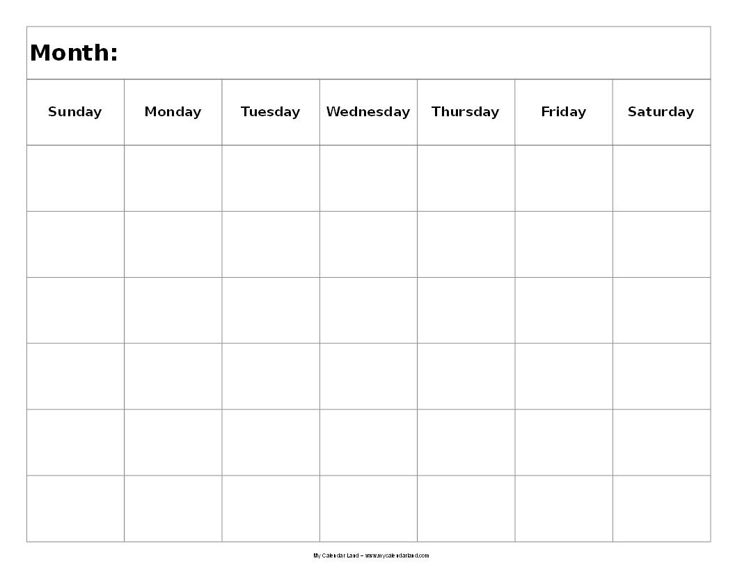 Catch Blank Six Week Calendar
