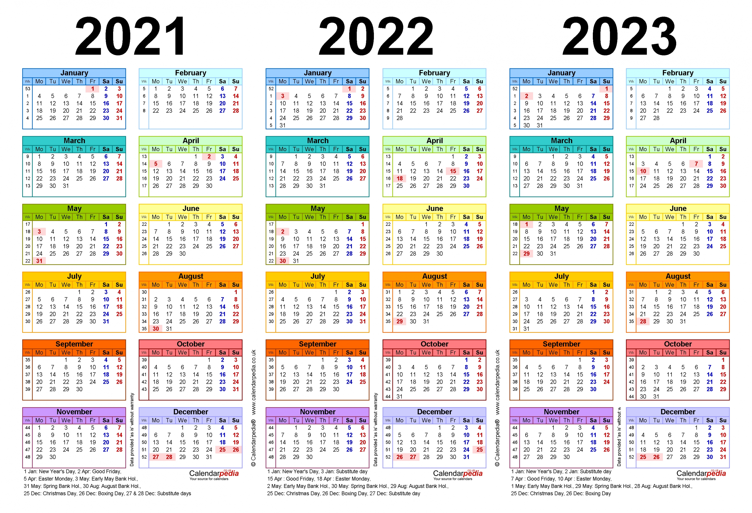 Catch Calander 2021 Thru 2023