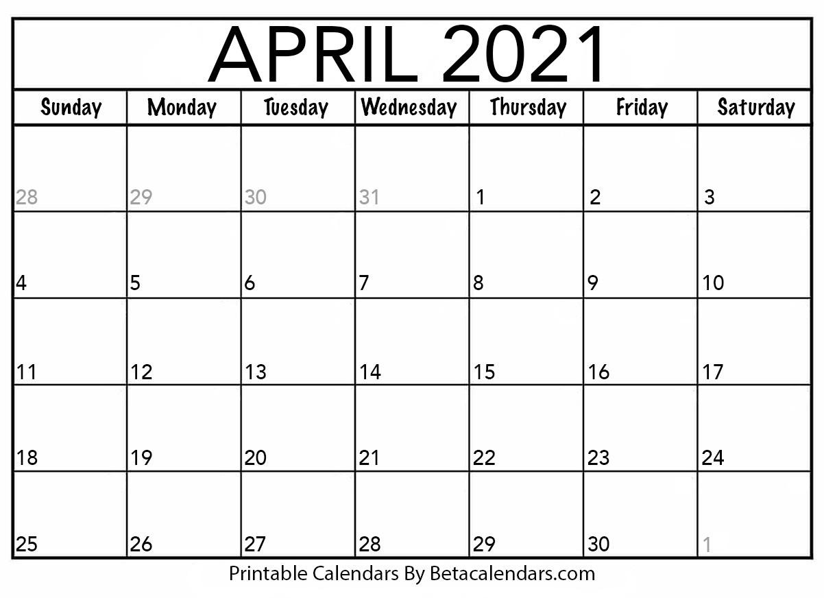 Catch Calendar 1St April 2021 To 31St March 2021