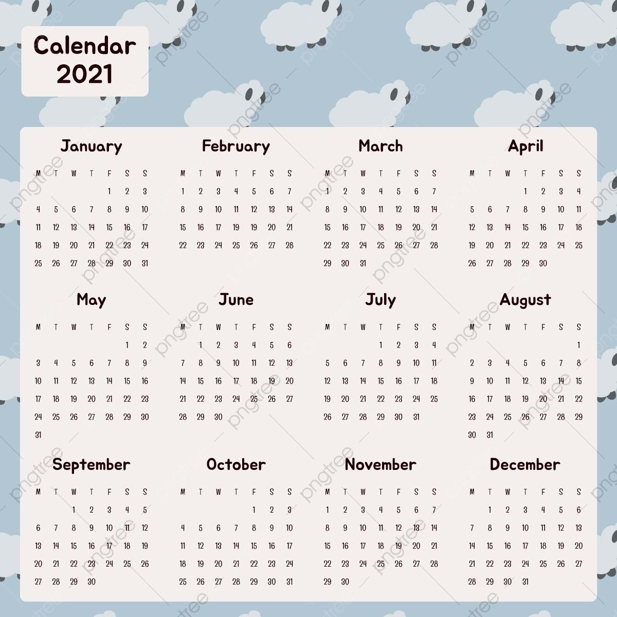 Catch Calendar 2021 For Fill Up