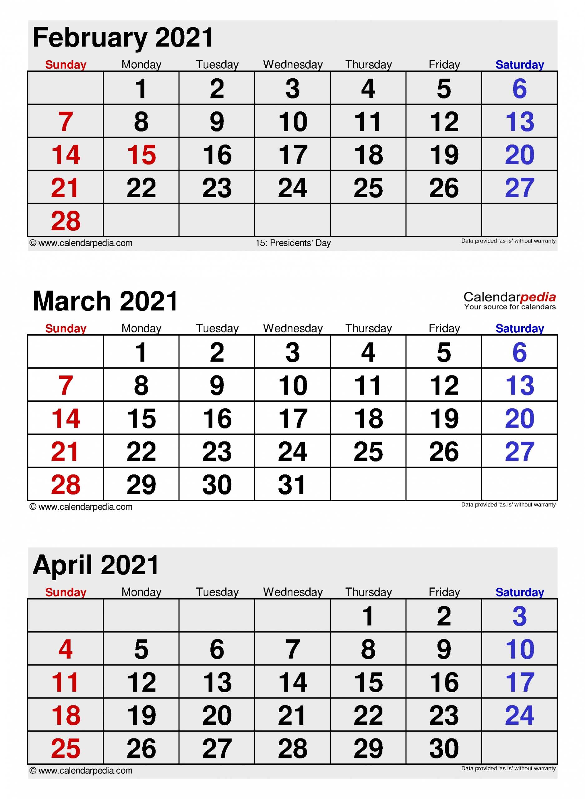 Catch Calendar 2021 Jan Feb Mar April