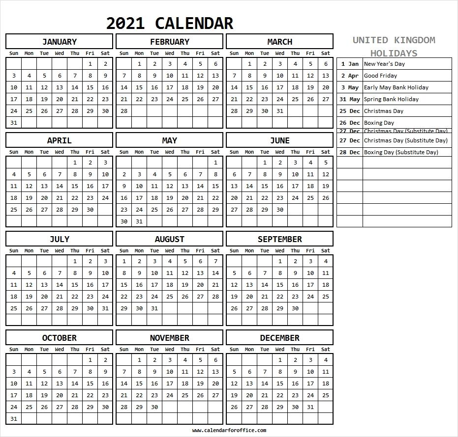 Catch Calendar 2021 Uk