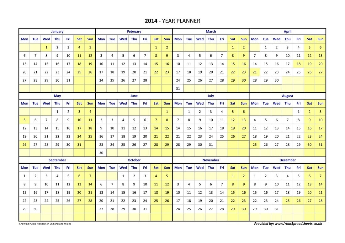 Catch Calendar Excel Weeks In Year