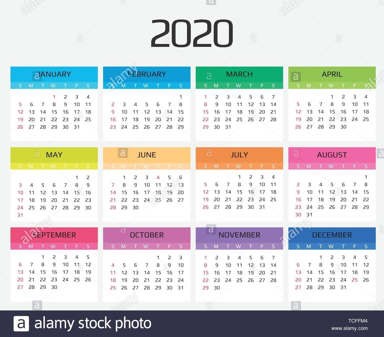 Catch Calendar For All 12 Months