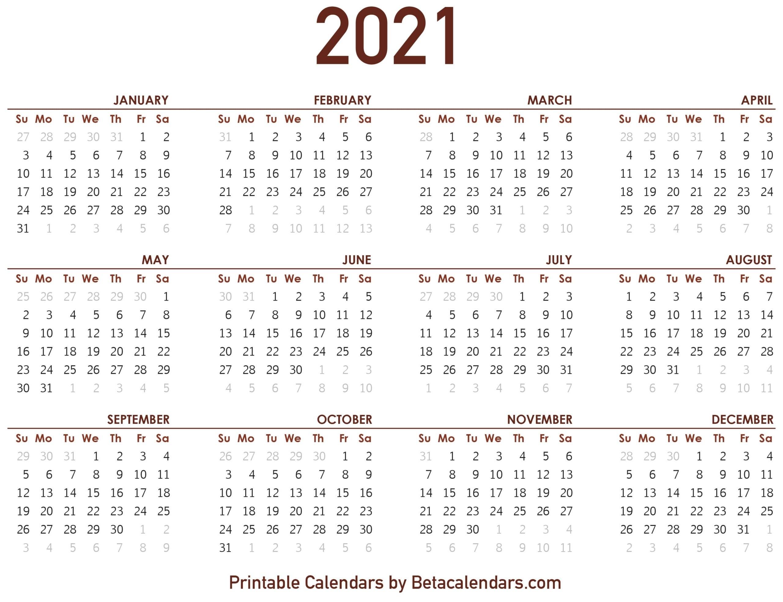 Catch Calendar For August Through December 2021