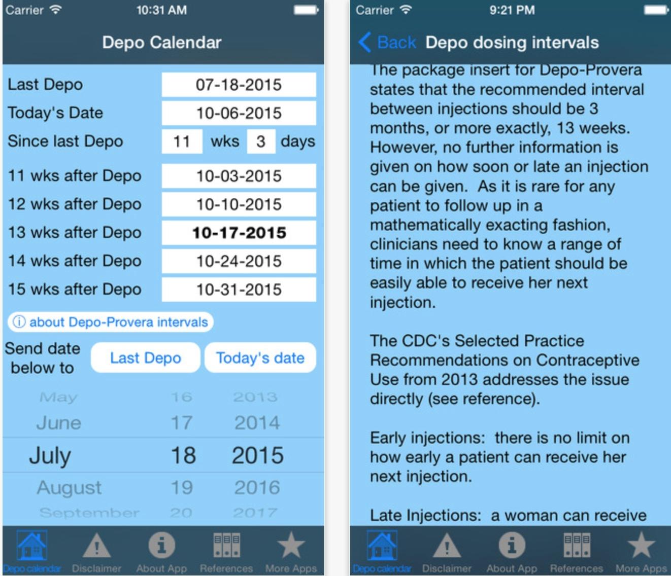 Catch Calendar For Depo Provera