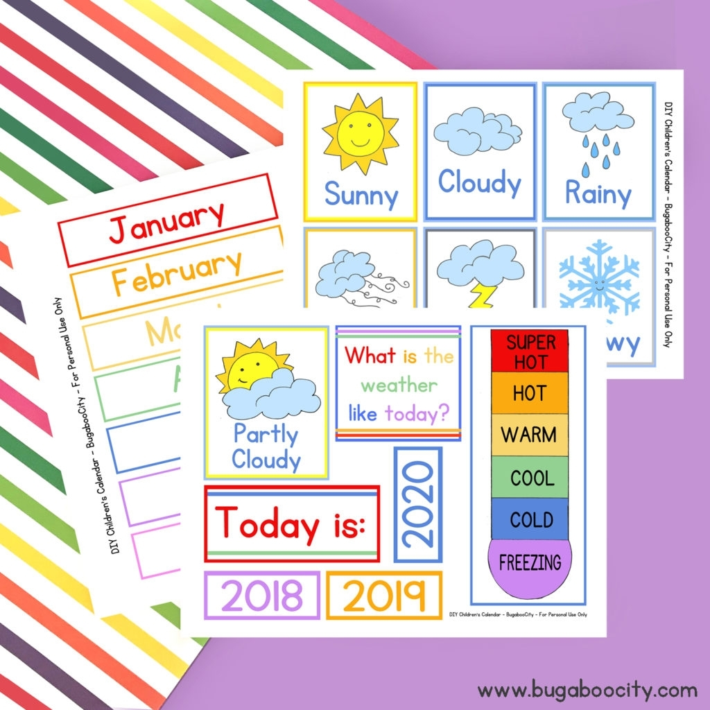 Catch Calendar Free Printable For Kids