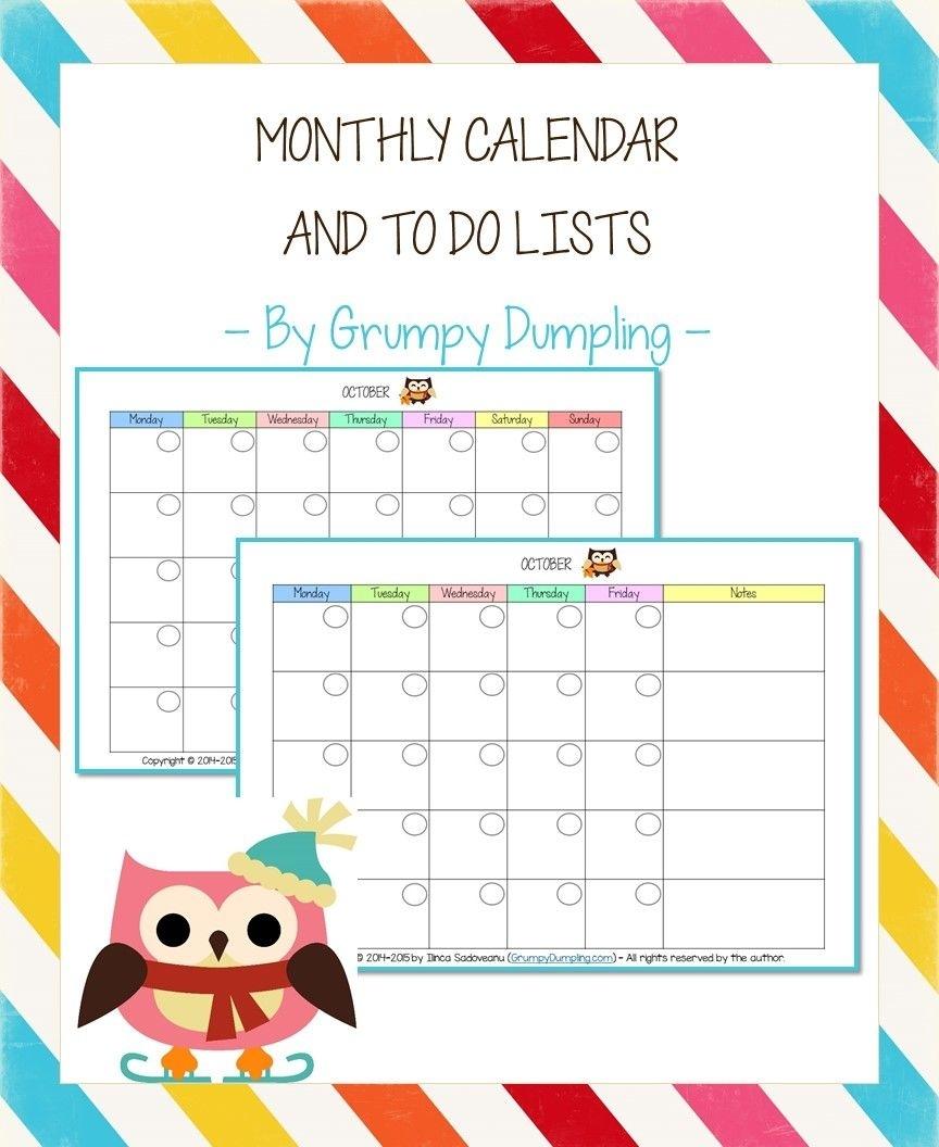 Catch Calendar Friday To Do With