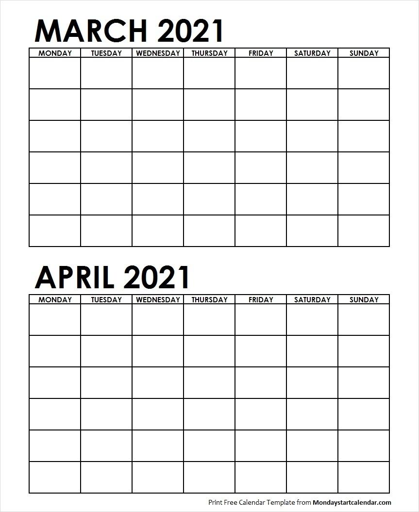 Catch Calendar March April 2021
