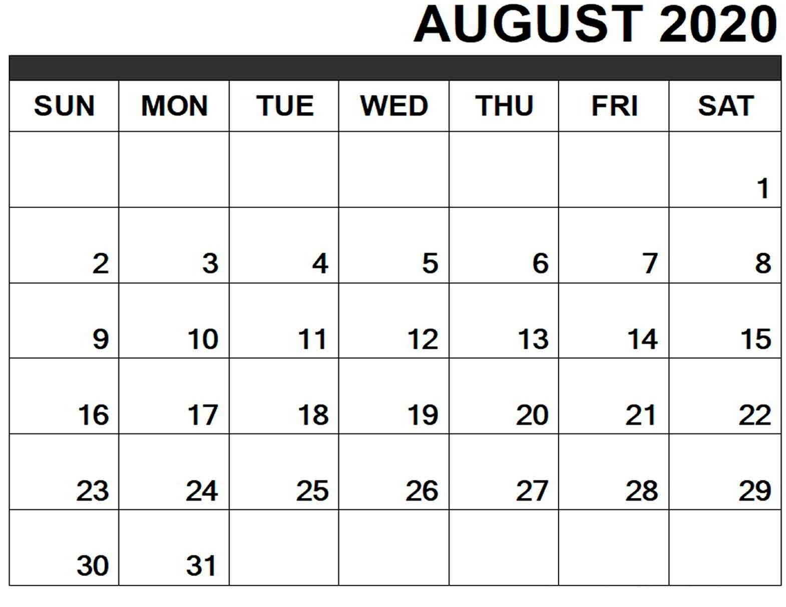 Catch Calendar Month Of August