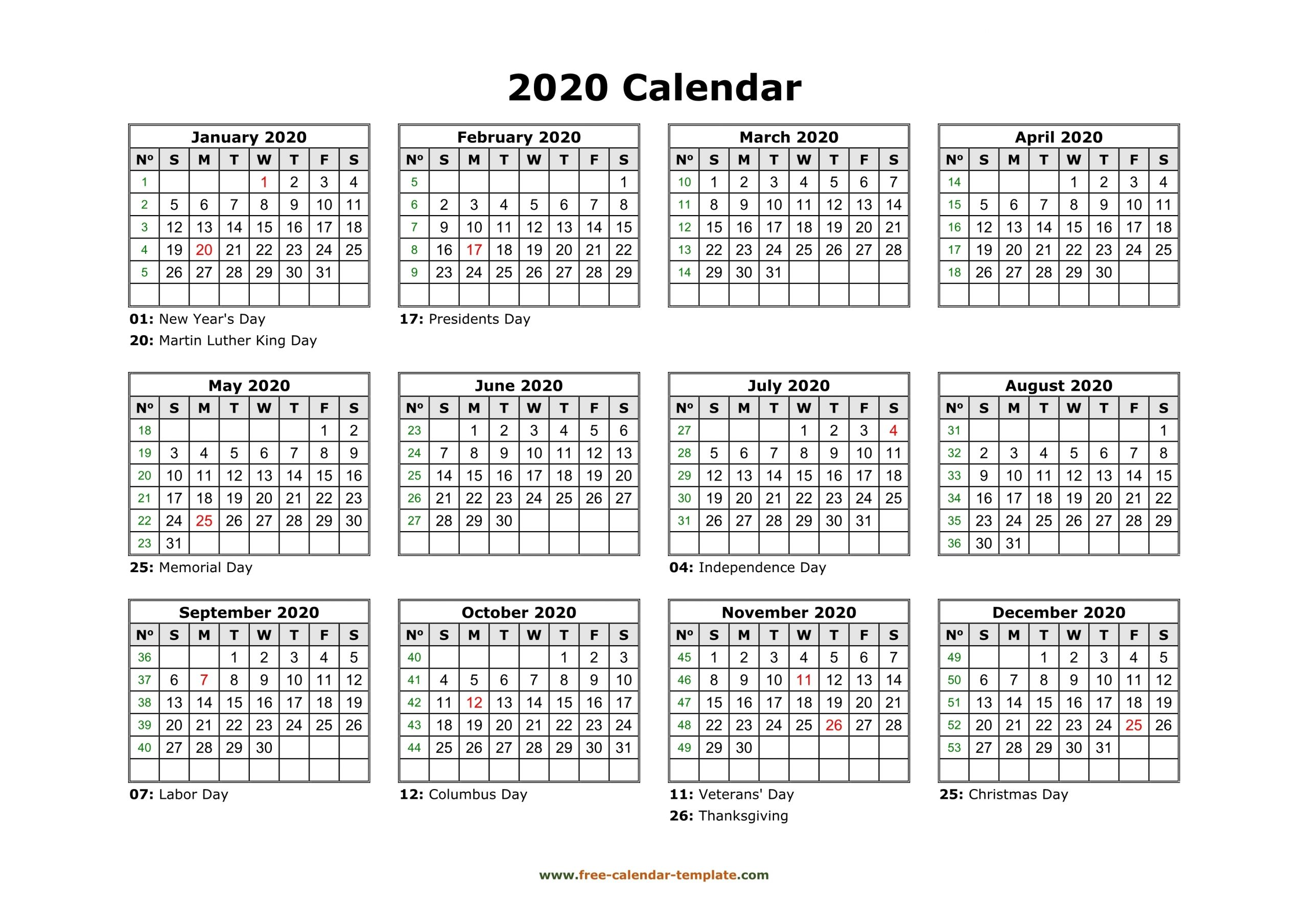 Catch Calendar Template Free