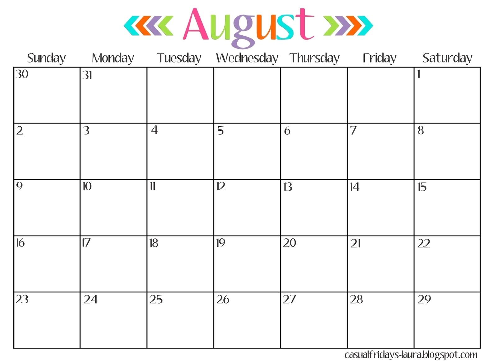 Catch Calendar Template With Clip Art