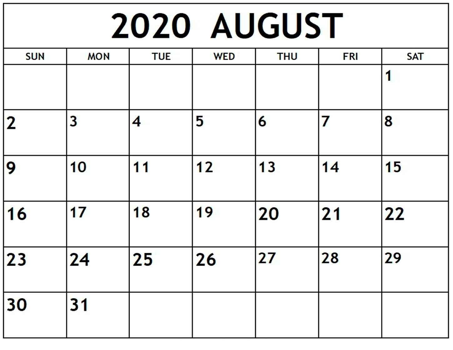 Catch Calendar To Print August To Print