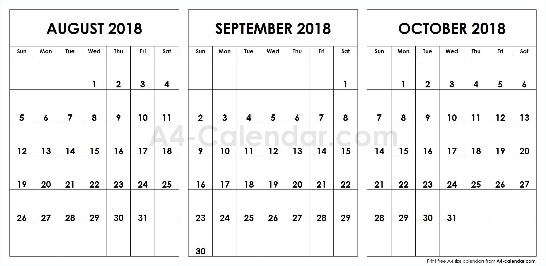 Catch Calender For August September Octoer