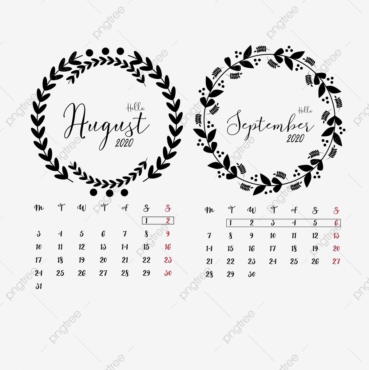 Catch Clip Art September Calendar 2021