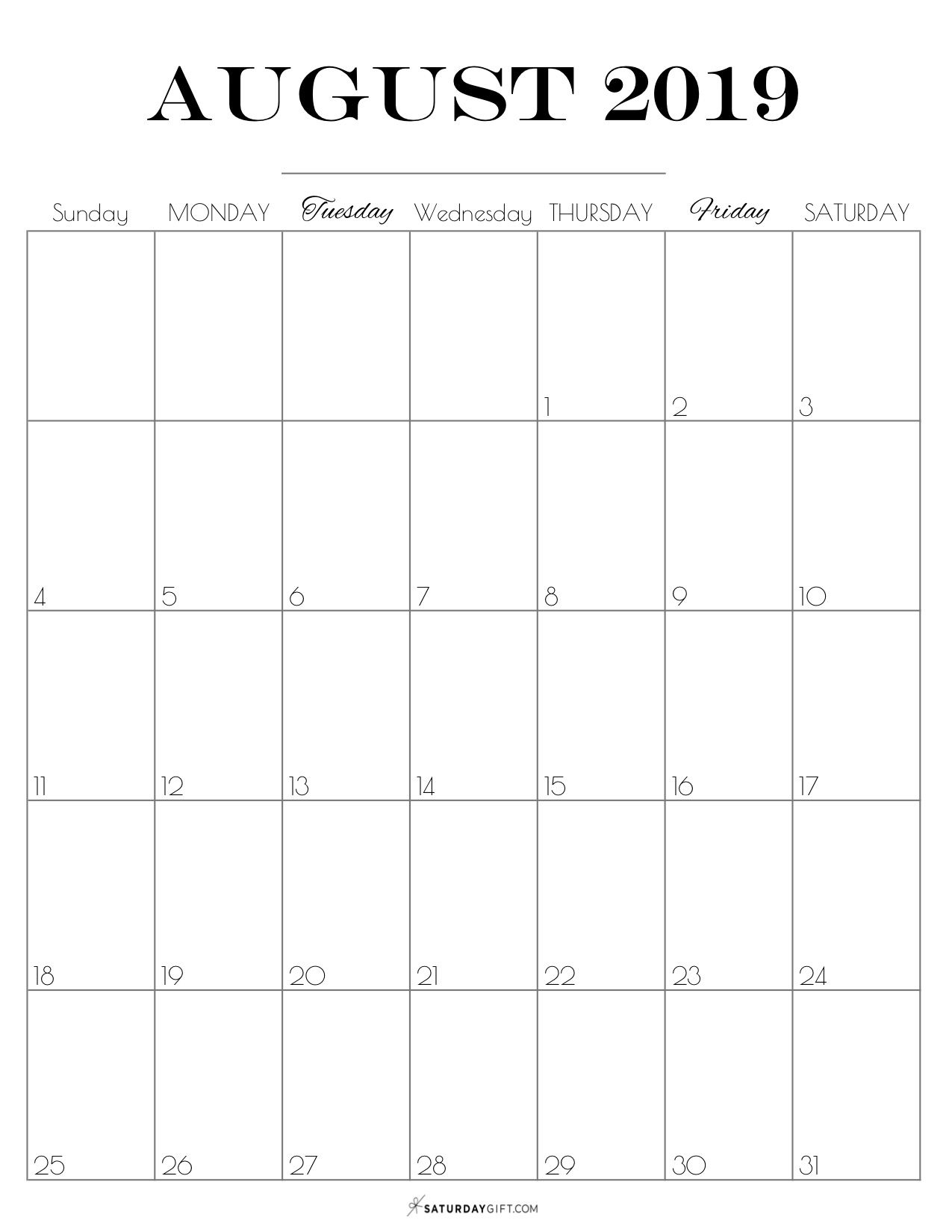 Catch Cute Printable August Calendar 2021