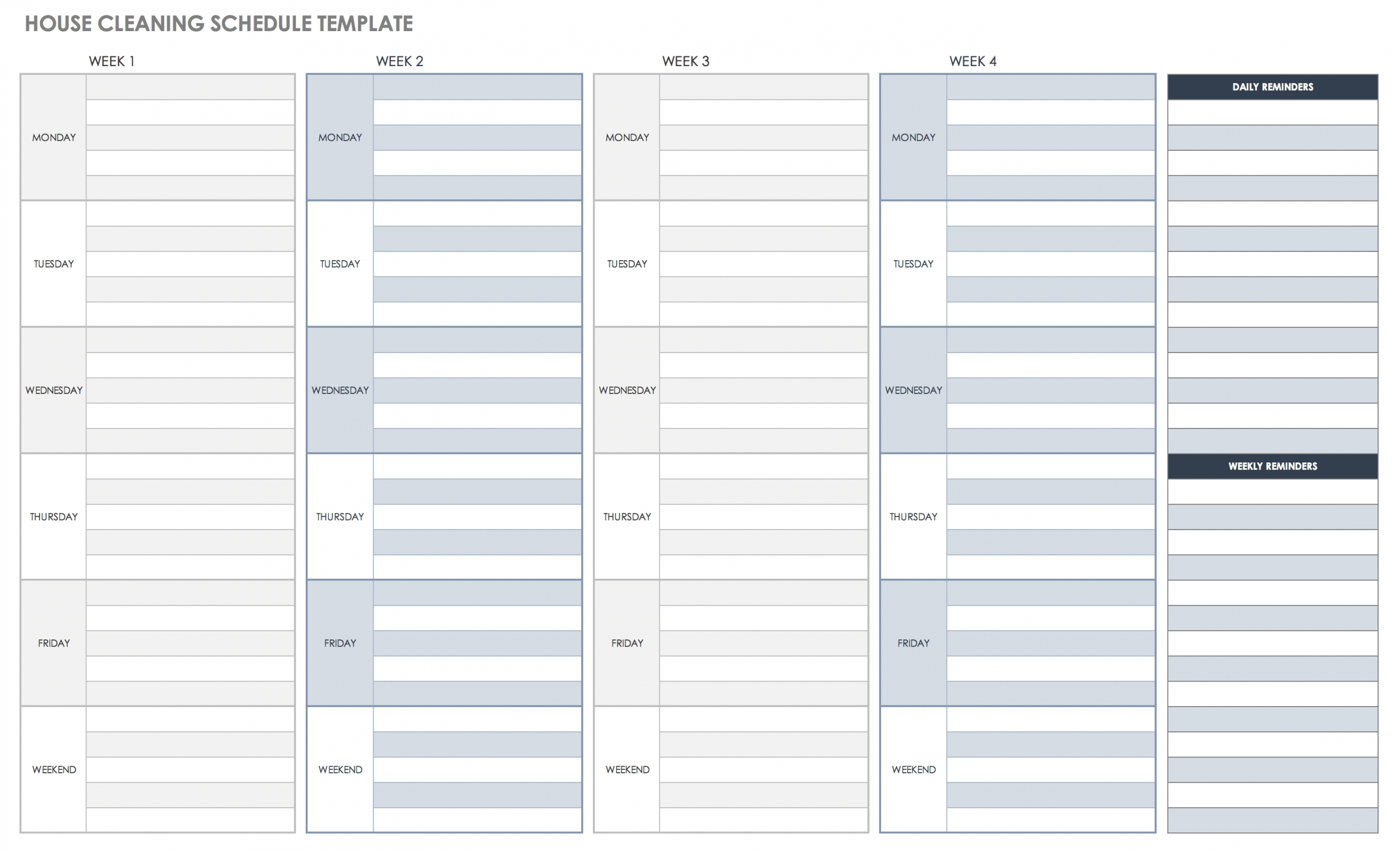 Catch Daily Half Hour Schedule Templates