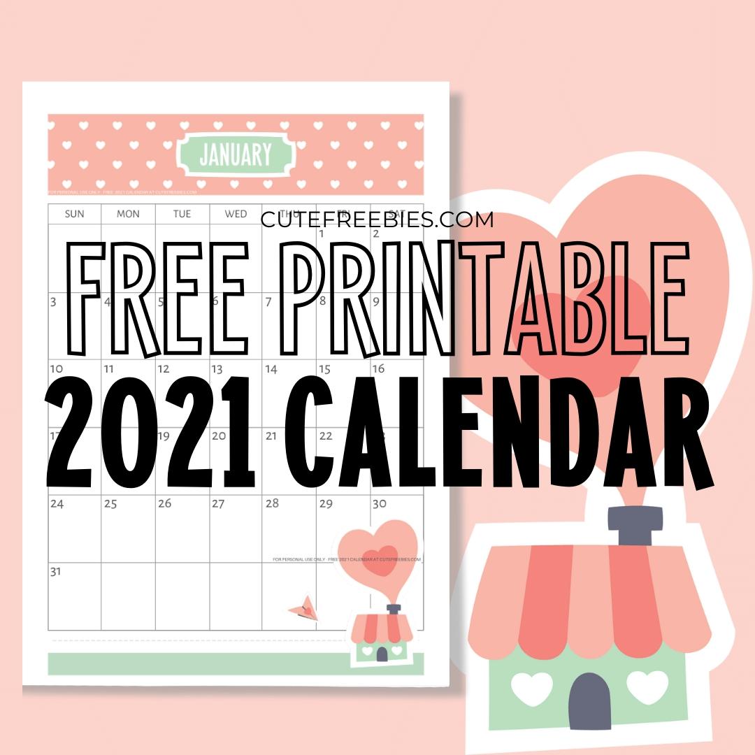 Catch Dowload Free Cute Calender 2021