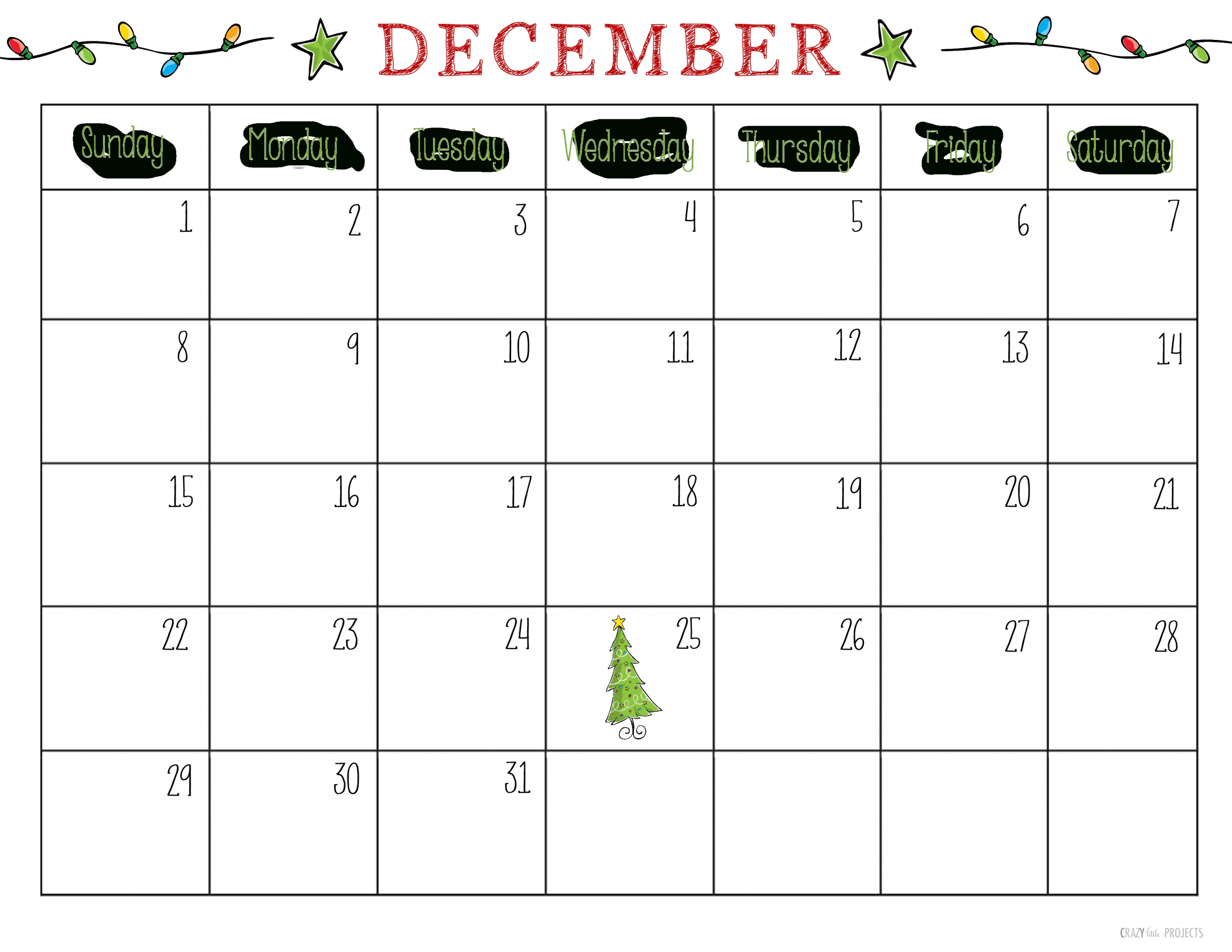 Catch Festive Printable Calendars